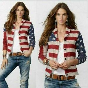 Denim & Supply Ralph Lauren USA Flag Knit Cardian